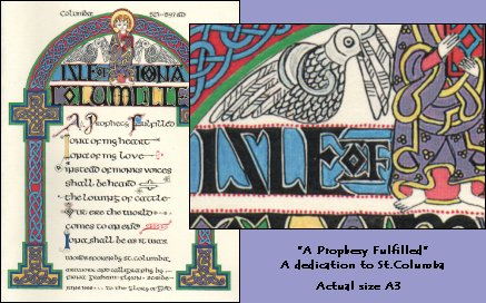 Dedication to St.Columba (with detail)