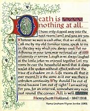 Poem - Death Is Nothing At All