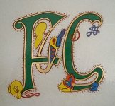 Initials FG on parchment