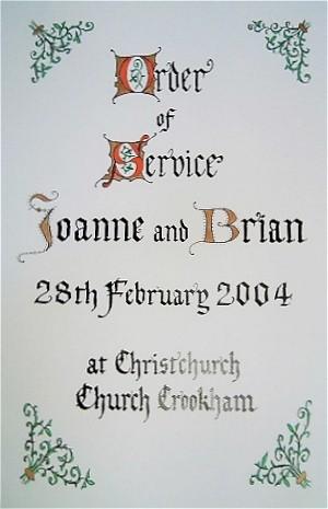 Order of Service Booklet 2004