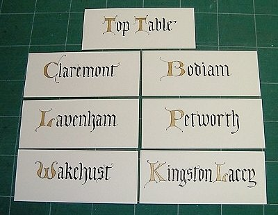 Tigon Crafts - Wedding Table Identity Cards