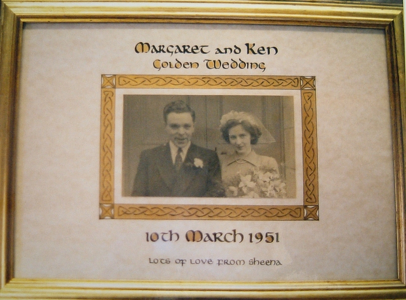 Marriage Golden Wedding Plaque Celtic border Created 2001 Size A1